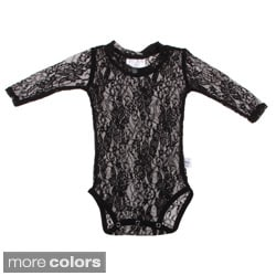 Andee Lew Girl's Lace Long Sleeve Bodysuit