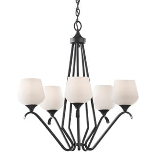 Merritt Contemporary 5-light Brushed Silver Finished Chandelier