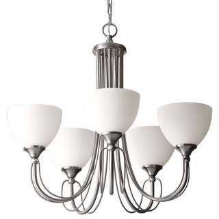 Morgan Brushed Silver 5-light Cord Style Chandelier