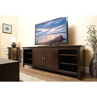 Abbyson Living Camden Espresso 72-inch Solid Oak Wood TV Console
