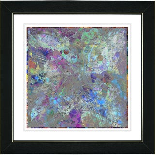 Studio Works Modern 'Blue Nova' Framed Print