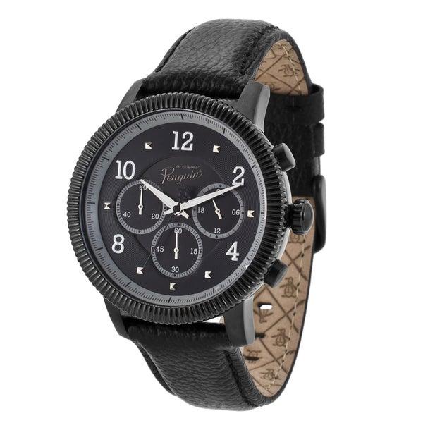 Original Penguin Men's 'Dino' Black Dial Chronograph Watch