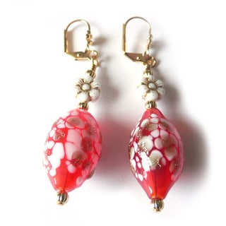 'Gabriella' Hand-Blown Glass Earrings