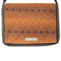 Handmade Medium Brown Clouds Messenger Bag