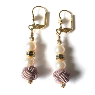 'Deirdra' Chinese Knot Dangle Earrings