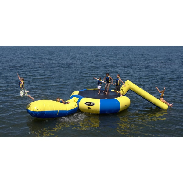 RAVE Sports Bongo 15-foot Water Bouncer with Slide and Launch