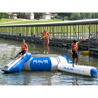 RAVE Sports Splash Zone Plus 12-foot Water Bouncer with Slide and Log
