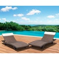 Mykonos Deluxe Loungers Brown (Set of 2)
