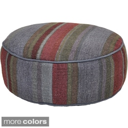 Eore Round Stripe Pouf Pillow