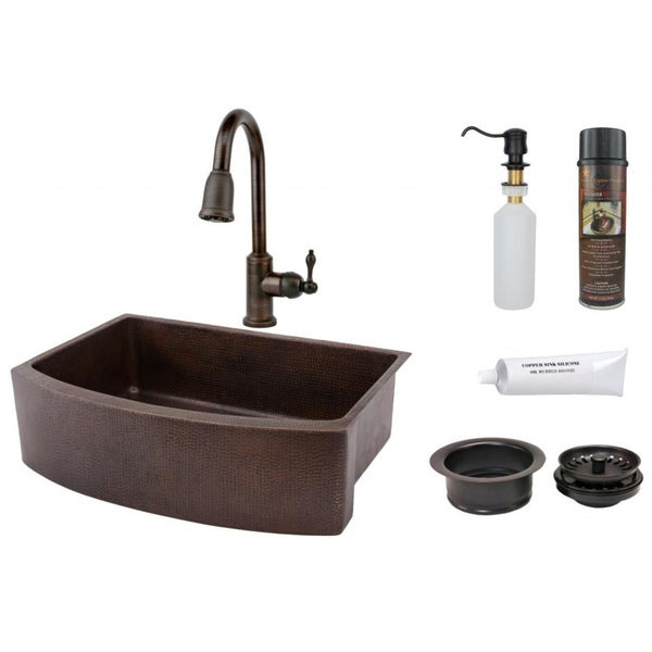 Premier Copper Products Pull-Down Lead-Free Faucet Package
