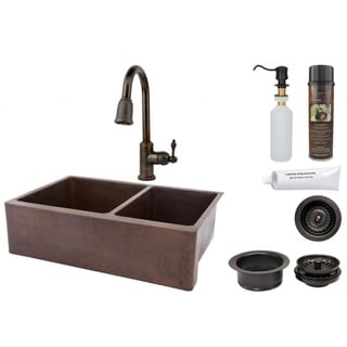 Premier Copper Products Pull-Down Recycled Faucet Package