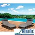 Atlantic Mykonos Grey Deluxe Loungers (Set of 2)