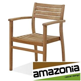 Amazonia Teak Paris Stackable Teak Chairs (Set of 4)