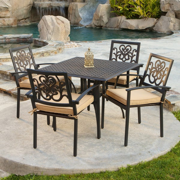 RST Brands Delano 5-piece Cast Aluminum Patio Cafe Set