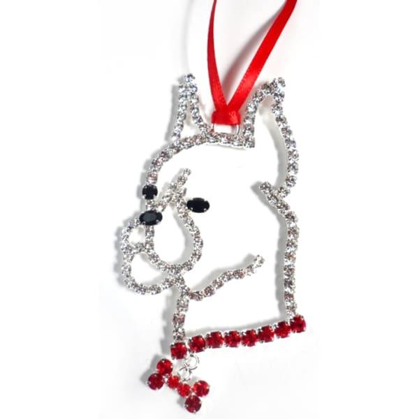 Buddy G's Austrian Crystal Boxer Ornament