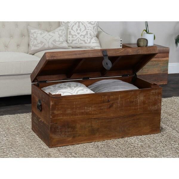 Kosas Home Bali Large Recycled Wood Box