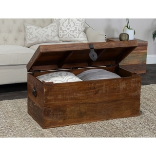 Kosas Home Bali Large Recycled Wood Box