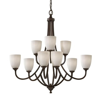 Perry Nine-Light Heritage Bronze Chandelier