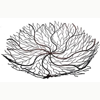 18-Inch Copper Wire Brush Bowl (Indonesia)