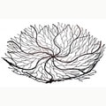 18-Inch Copper Wire Brush Bowl (Indonesia)