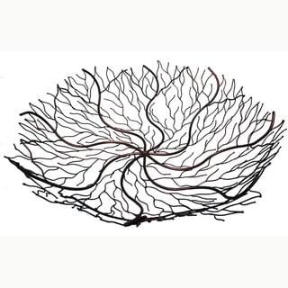 Handmade 24-Inch Copper Wire Decorative Bowl (Indonesia)