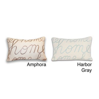 Thro Home Embroidered Script 20-inch Decorative Pillow