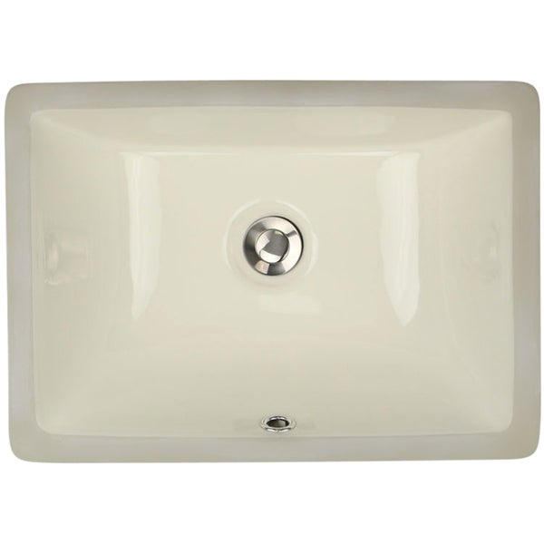 16 Undermount Sink : Highpoint Collection 16 x 11-inch Rectangle Undermount Bathroom Sink ...