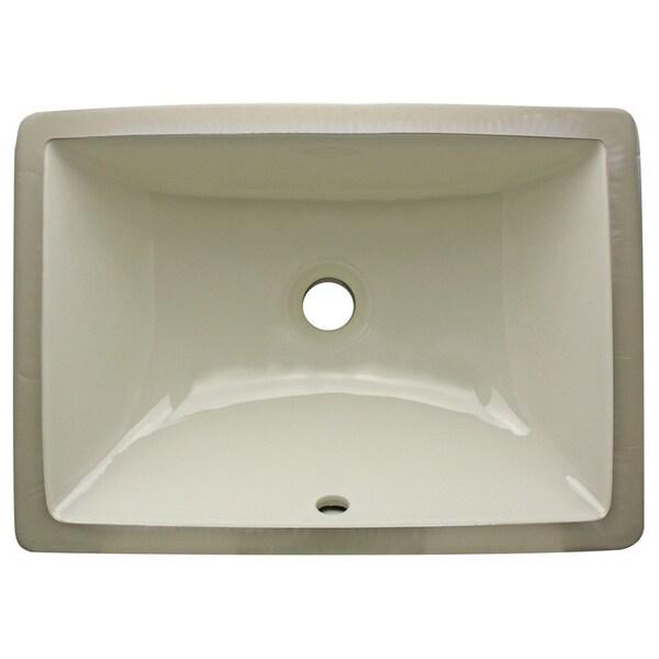 Highpoint Collection Bisque Ceramic Undermount Bathroom Sink