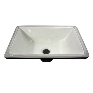 Highpoint Collection Bisque Ceramic Undermount Bathroom Sink