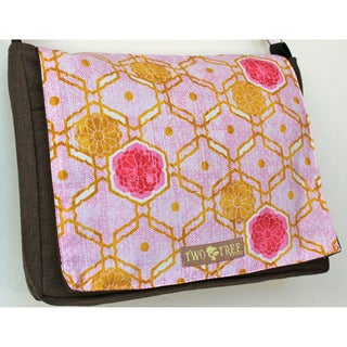 Handmade Medium Honeycomb Flower Messenger Bag