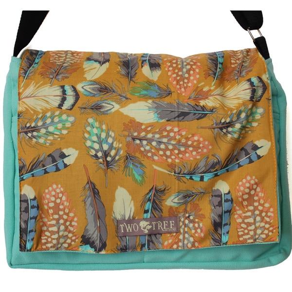 Handmade Medium Field Study of Feathers Messenger Bag