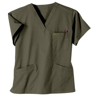 IguanaMed Women's City Slate Classic Scrub Top