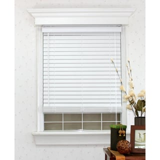 Faux Wood White Blind Set with Headrail