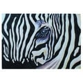 'Zebra Eye' Original Large Canvas Painting (Indonesia)