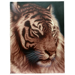 'Tiger Face' Large Original Canvas Painting (Indonesia)