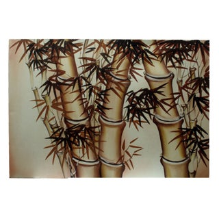 'Bamboo' Original Canvas Painting (Indonesia)