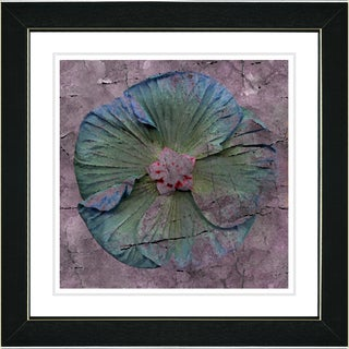 Studio Works Modern 'Mudflower - Blue' Framed Print