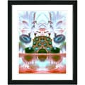 Studio Works Modern 'Orange Cut Crystal Fruit' Framed Print
