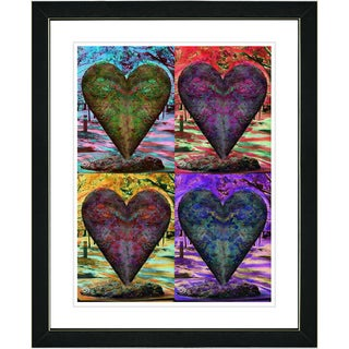Studio Works Modern 'Four Hearts' Framed Print