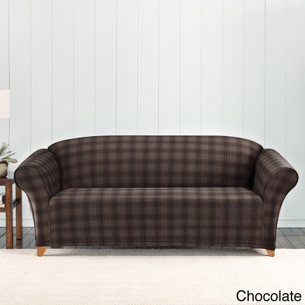 Sure Fit Stretch Belmont Plaid Sofa Slipcover Overstock