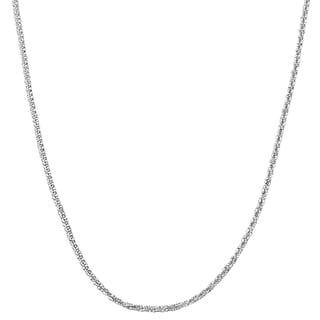 Fremada Sterling Silver 1.5-mm Sparkle Necklace