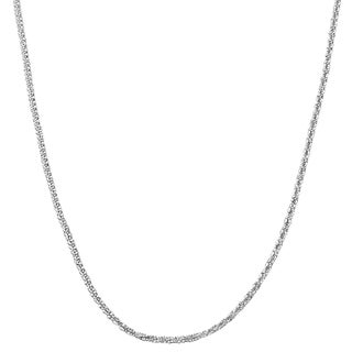 Fremada Sterling Silver 1.5 mm Sparkle Necklace (16 - 24 inch)