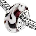 West Coast Jewelry Sterling Silver Murano-style 'Beauty in a Box' Glass Bead