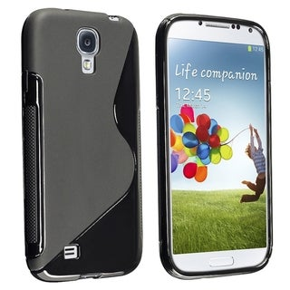 BasAcc Black S Shape TPU Case for Samsung Galaxy S IV/ S4 I9500
