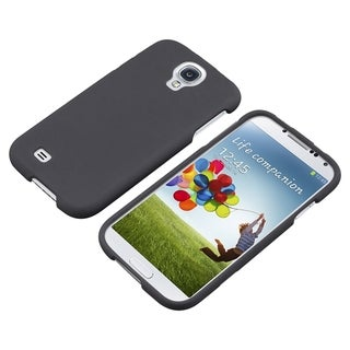 BasAcc Black Rubber Coated Case for Samsung Galaxy S IV/ S4 I9500