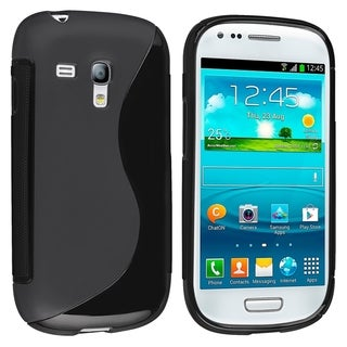 BasAcc Black S Shape TPU Case for Samsung Galaxy S III Mini i8190