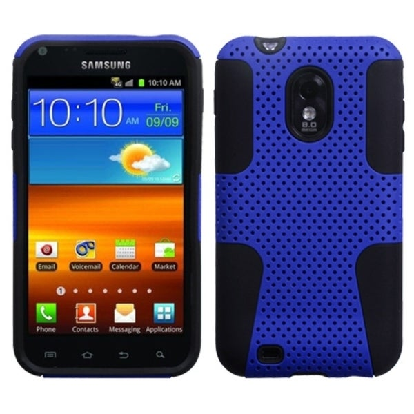 INSTEN Blue/ Black Phone Case Cover for Samsung Galaxy S II/ Epic 4G/ Touch D710