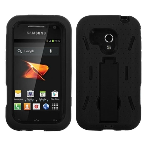 INSTEN Black Hybrid Stand Phone Case Cover for Samsung M830 Galaxy Rush