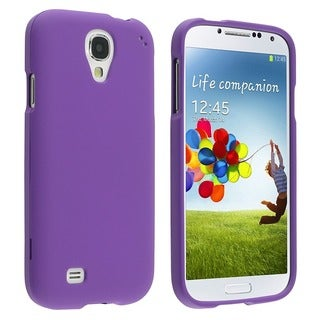 BasAcc Purple Rubber Coated Case for Samsung Galaxy S IV/ S4 I9500