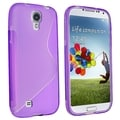 BasAcc Clear Purple S Shape TPU Case for Samsung Galaxy S IV/ S4 I9500